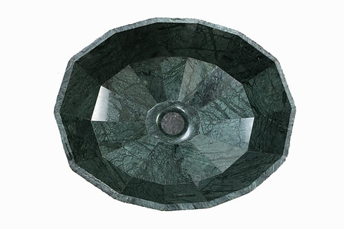 Forest Green Granite Multi-Faceted Undermount Sink
