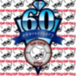 The 60th Anniversary logo with smaller Chi-Chi's logos as the background.