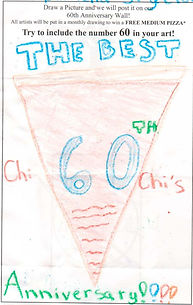 A kid's drawing from the kids menu