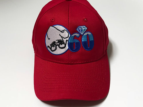 60th Anniversary Hat - Red