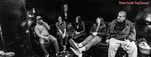 Sarah, Madison, Whitney, Joey Diaz and myself in The Comedy Store (Green Room).