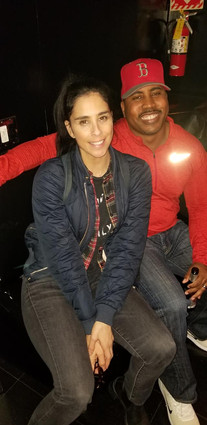 Hanging with Sarah Silverman- The Comedy Store (Green Room)