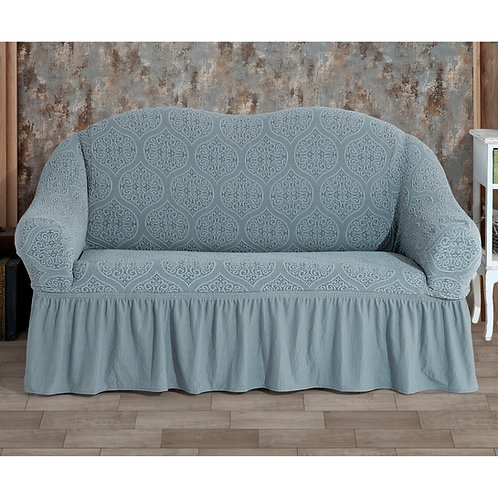 Fabienne Jacquard Fabric Two Seater Sofa Cover, Turkish Stretchable Couch Cover
