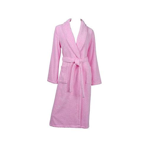 Fabienne Turkish Cotton Bathrobe Pink Bathrobe for Women Terry
