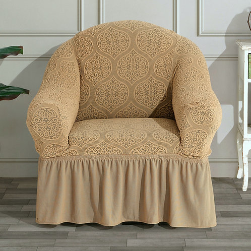 Fabienne Jacquard Fabric One Seater Sofa Cover ,Turkish Stretchable Couch Cover