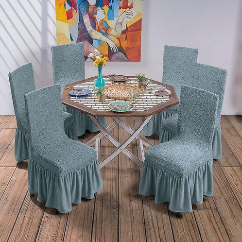 Jacquard chair covers grey