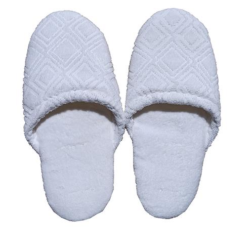 Fabienne Turkish Cotton Spa Slippers Flexible Sole Hotel Bath Slippers.