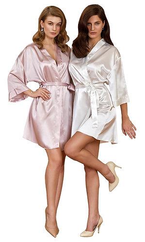 Nurteks Silky Satin Bridal Robe Wedding Dressing Gown Bridesmaid Bathrobe