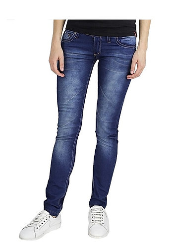 IST MODA Straight Fit Jeans for Women - Dark Blue