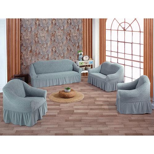 Fabienne Jacquard Fabric Sofa Cover Set Seven Seater
