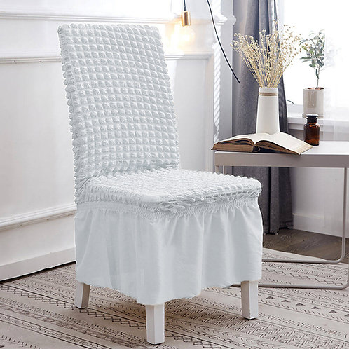 Fabienne Easy Fitted Turkish Dining Chair Cover Slipcovers with Skirt