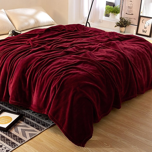 Silky Microfiber Flannel Blanket King/Double Size