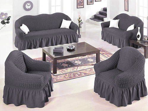 4-Piece Sofa Stretchable Cover Set 7 seater (3211) Free Size