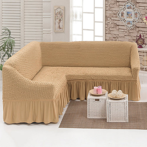Fabienne L Shape Sofa Cover/ 4-5 Seater Straight Sofa cover (2.5 to 4 Meter)