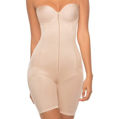 Annette Women's Extra Firm Control Full Body Strapless Mid-Thigh Shapewear 10755
