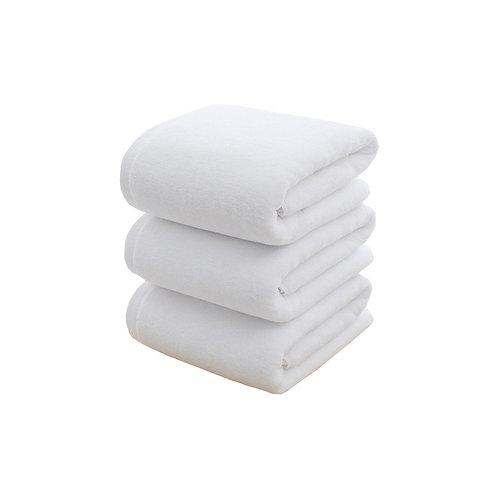 3-Piece Turkish Cotton Bath Towels White 70x140 centimeter