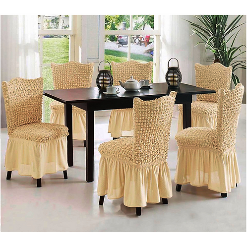 Fabienne Stretchable Dining Chair Covers 6- Piece Set