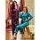 Thumbnail: Nurteks Women's Silky Satin Pajama Set Sleepwear Collar Neck