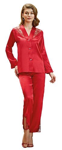 Nurteks Women's Silky Satin Pajama Set Sleepwear