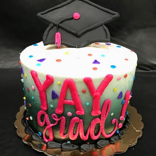 Yay Grad! Graduation Cake