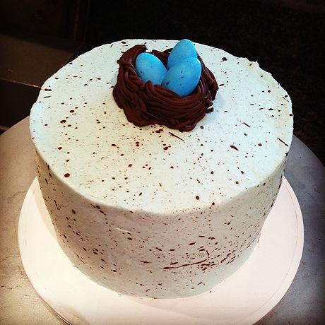 Speckled egg cake