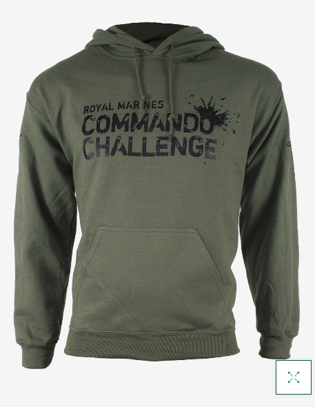 Commando Challenge Hoodie - Military Green