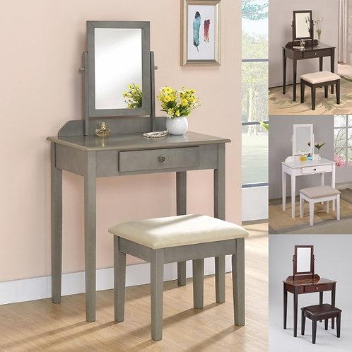 Iris Vanity & Stool Set- Various Colors