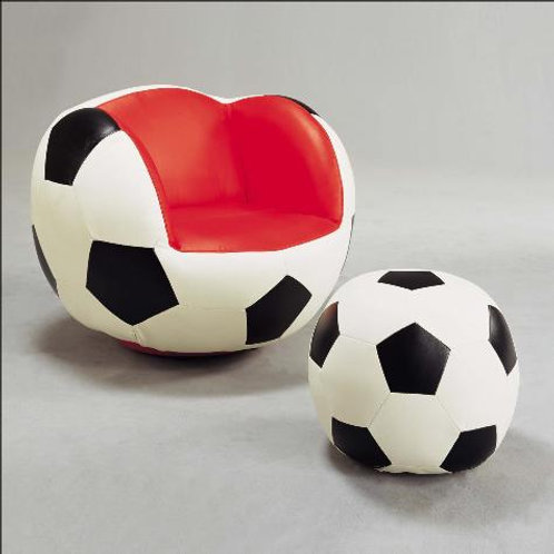 Soccer Chair with Ottoman