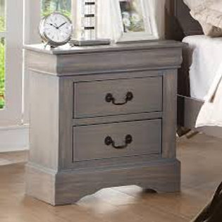 Louis Phillipe Nightstand - Grey