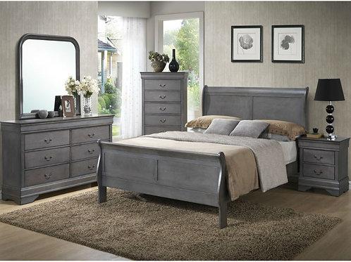 Louis Phillipe Bedroom Set-Gray