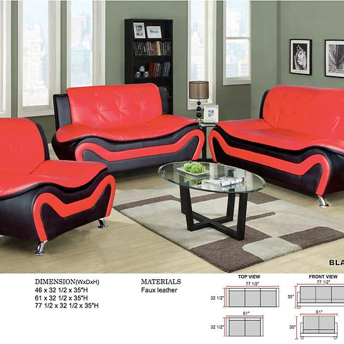3 Pc Set Red & Black