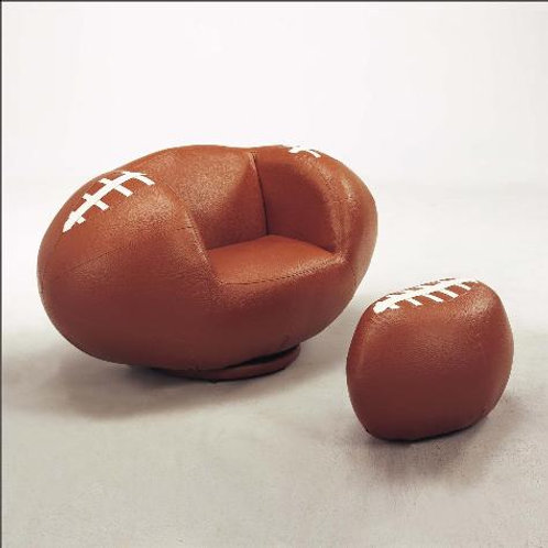 Football Chair & Ottoman