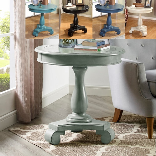 Constance Round End Table-Various Colors