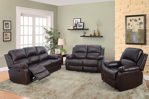 GS2900 Reclining Bonded Leather 3pc