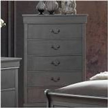 Louis Phillipe Chest- Grey
