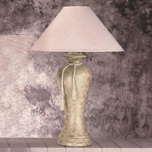 Ivory Marble Tassel Lamp
