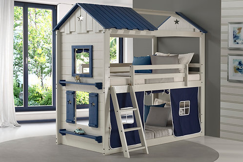 Twin/Twin Star Gaze Bunk Bed Blue/Grey
