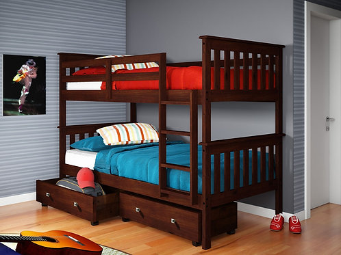Twin/Twin Mission Bunkbed-Various Options/Colors