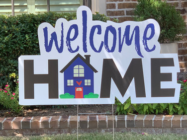 LARGE WELCOME HOME