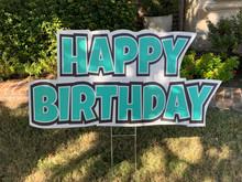 Happy Birthday - Teal