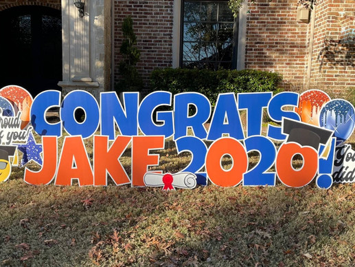 Show Your Pride With A Graduation Yard Sign From Yard Notes!