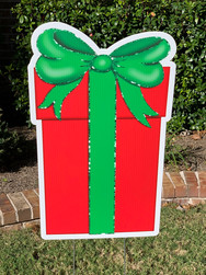 TALL RED GREEN GIFT BOX