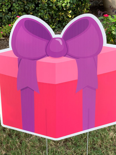 PINK PURPLE BIG BOW GIFT BOX