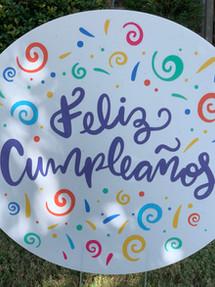 FELIZ COMPLEANOS (SPANISH) PARTY SWIRL