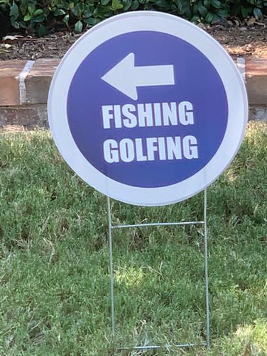 FISHING GOLFING