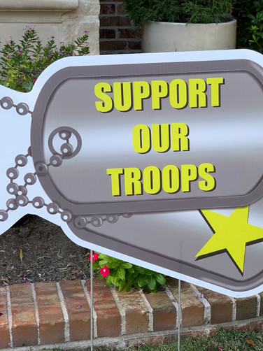 SUPPORT OUR TROOPS TAGS