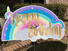 Happy Birthday - Rainbow/