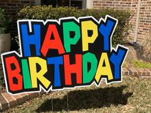 Happy Birthday - Primary Colors