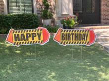 Happy Birthday - Construction Theme