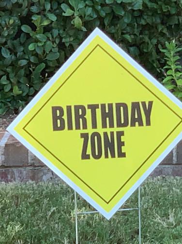 BIRTHDAY ZONE